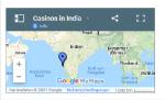 casinos in India map